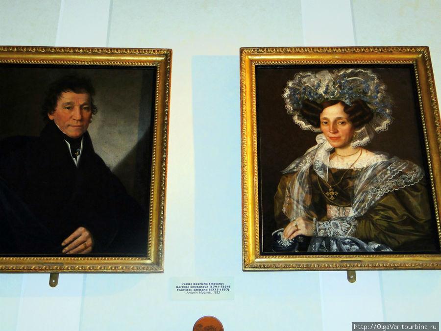 Портреты родителей композитора
