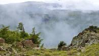 Туман в ущелье Молалы. Киргизский хребет.