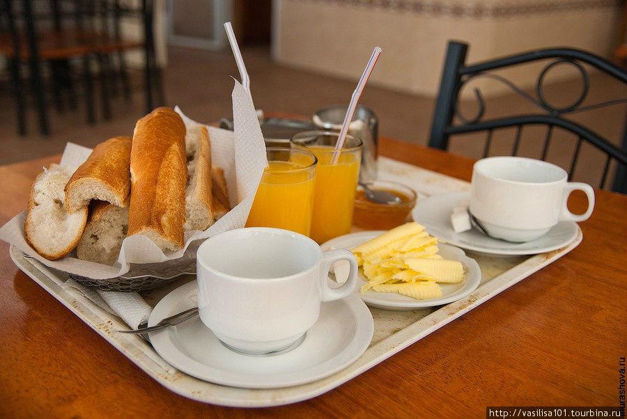 Стандартный завтрак в оте