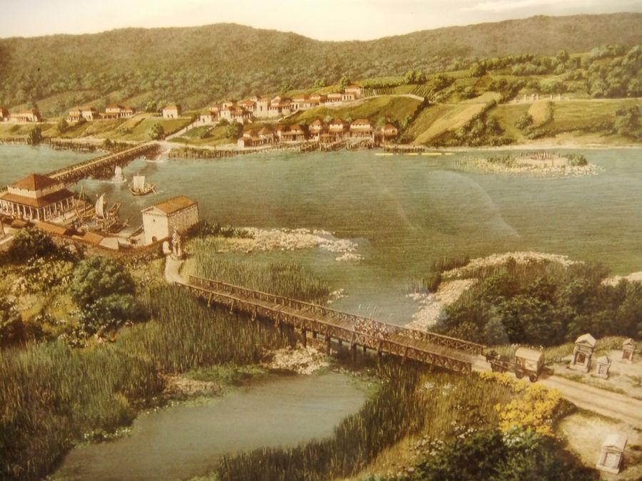 на одном из стендов музея — поселение Турикум, ставшее впоследствии Цюрихом.