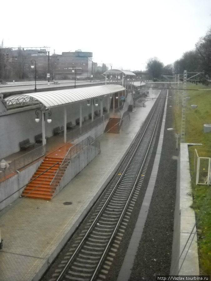 Боковой вид на вокзал