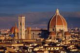 Вид на Санта-Мария-дель-Фьоре с площади Микельанджело.