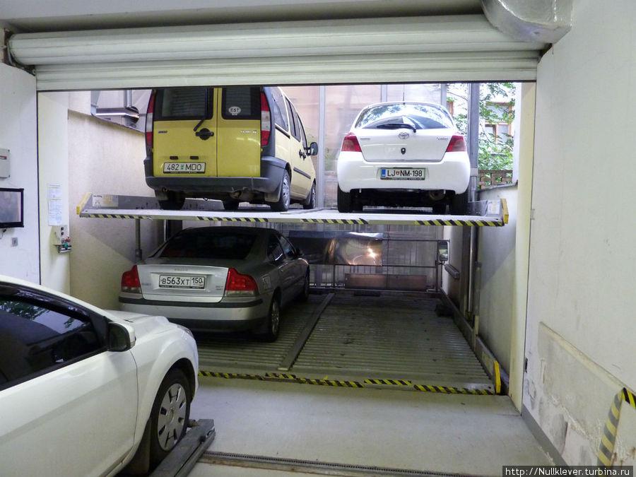 Многоэтажный гараж-лифт