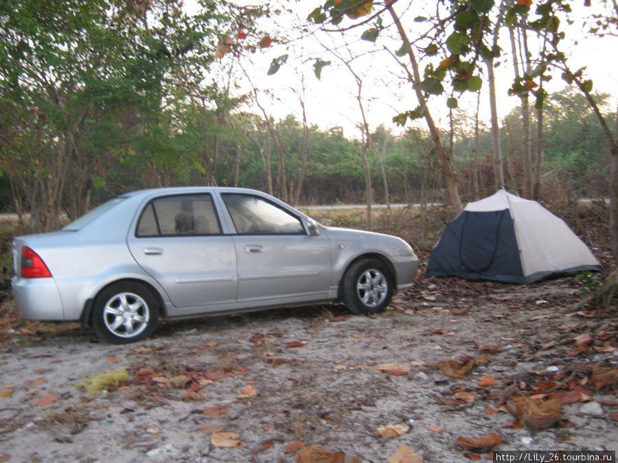 Наш лагерь на Карибском море