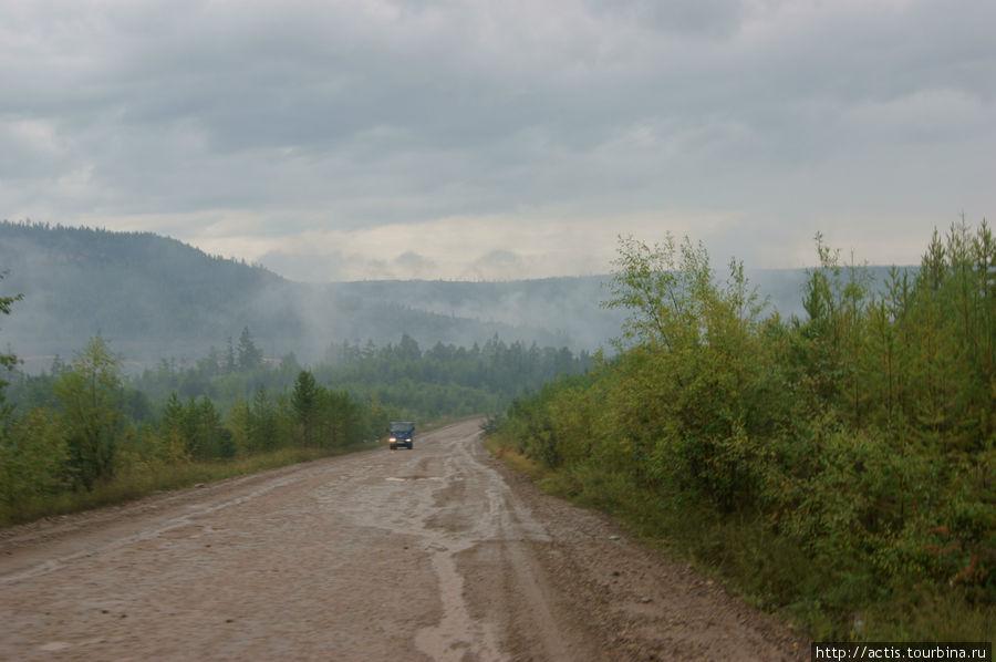 Дорога через горы после Братска.