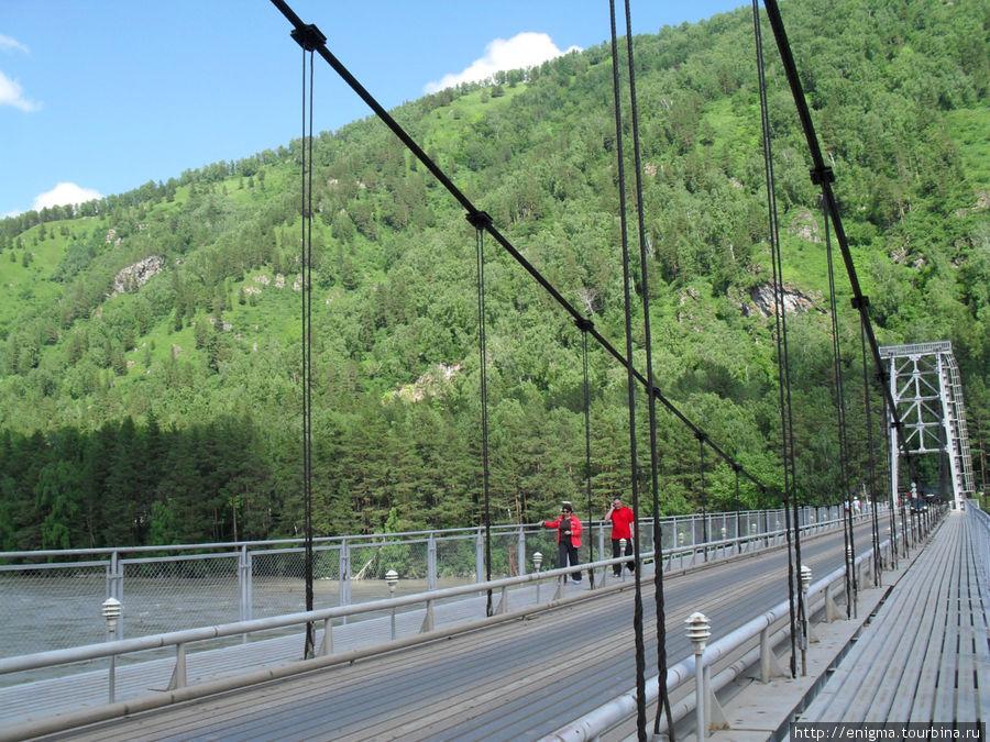 Мост в зоне Бирюзовой Катуни.