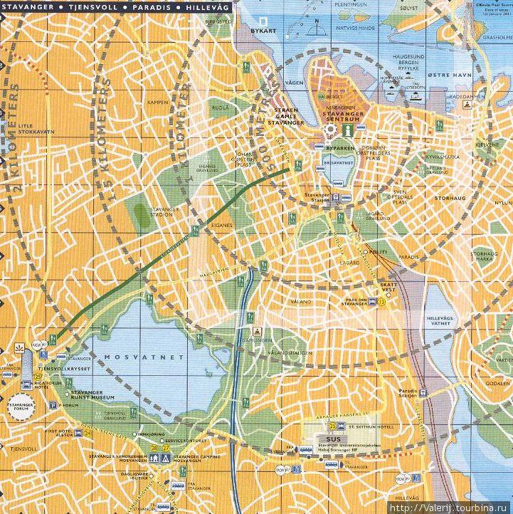 Карта центральной, исторической части города.