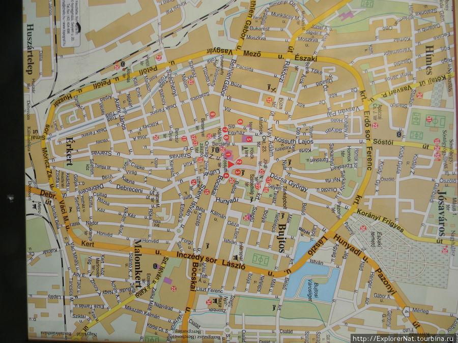 Карта центральной части города