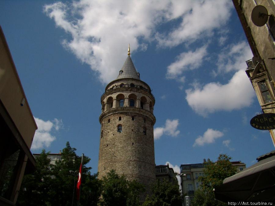 Башня Галата во всей своей красе.