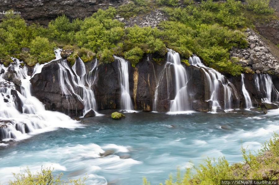 Водопад Hraunfossar