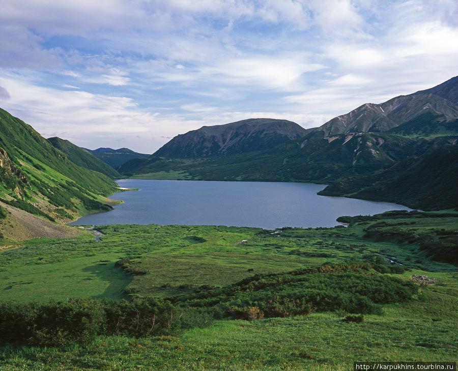 Озеро Медвежье. Вид сверху с севера на юг.