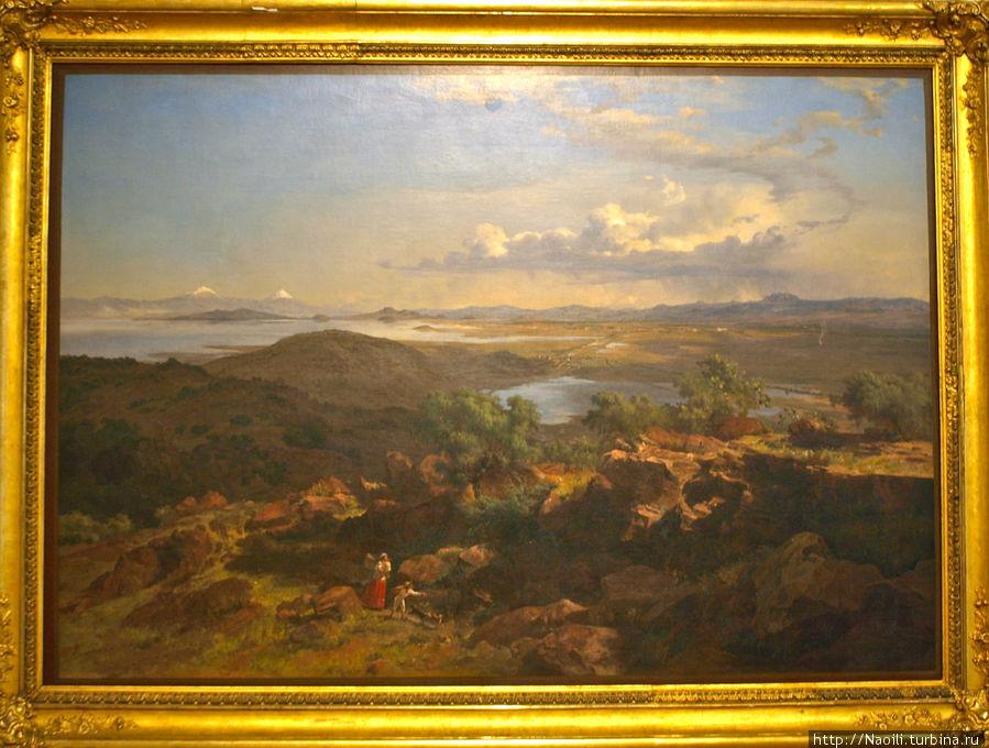 Долина Мехико с холма Санта Изабель, 1875
