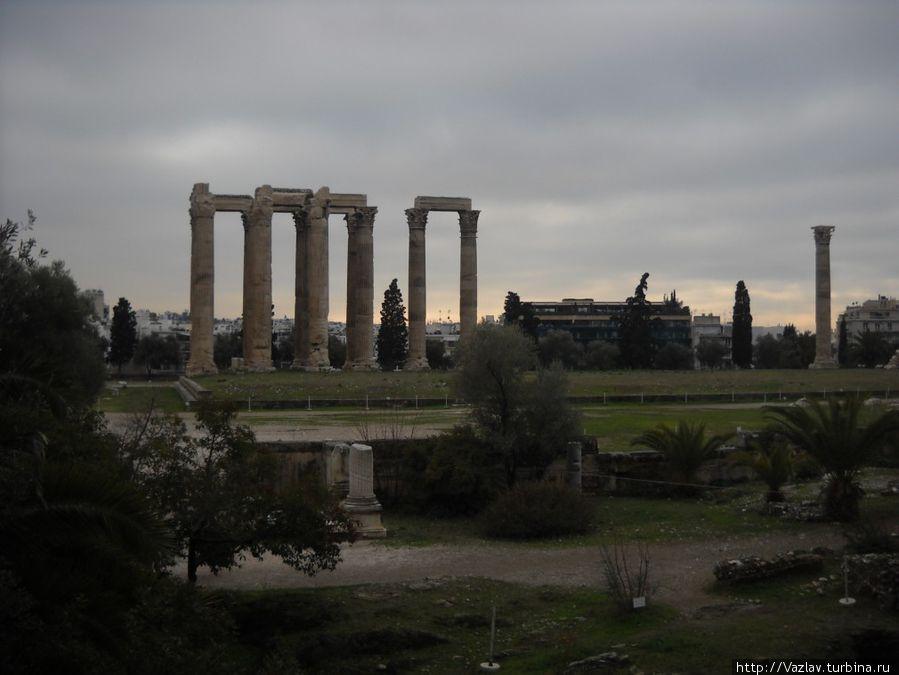 Панорама территории храма