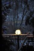 Зажгли фонари... И окрестный мир погружается в сиренево-синие сумерки с игрой теней на снегу.