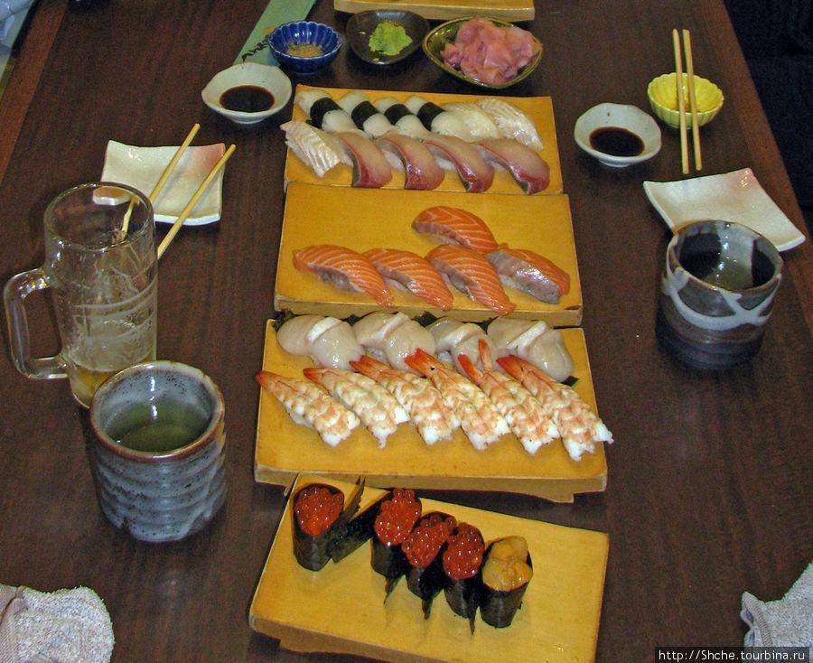 Настоящее суши. Обратите внимание на рыбу...