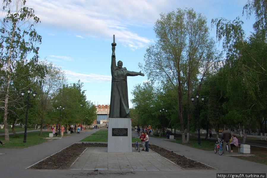 Сквер, где расположен памятник