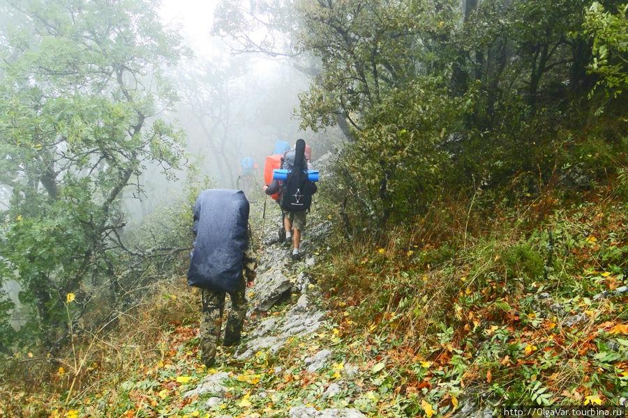 После дождя особенно идти трудно
