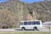Год назад по шоссе к Чимбулаку, кроме автомашин, сновали и рейсовые автобусы.