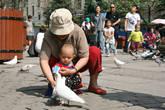 У собора можно купить семечек и покормить специально прикормленных голубей. В основном этим развлекаются дети.