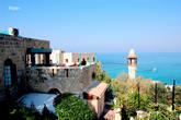 Ресторан Аладдин ,минарет морской мечети,прекрасный вид на море и Тель-Авив,приличная кухня.
