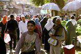Оживлённая улица в Старом Каире.