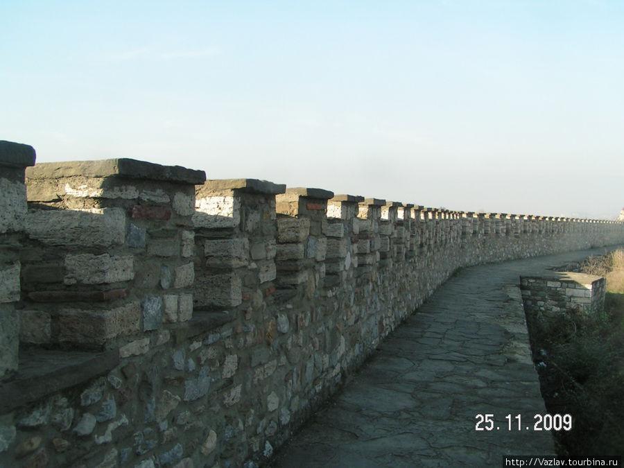 На стене
