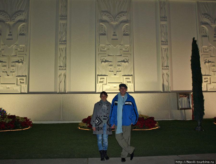 На стене храма орнаменты майя