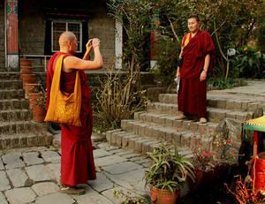 Бурятские монахи...