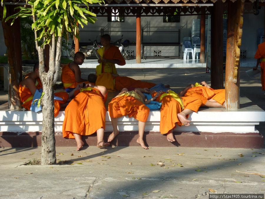 Лампанг. Юные монахи.
