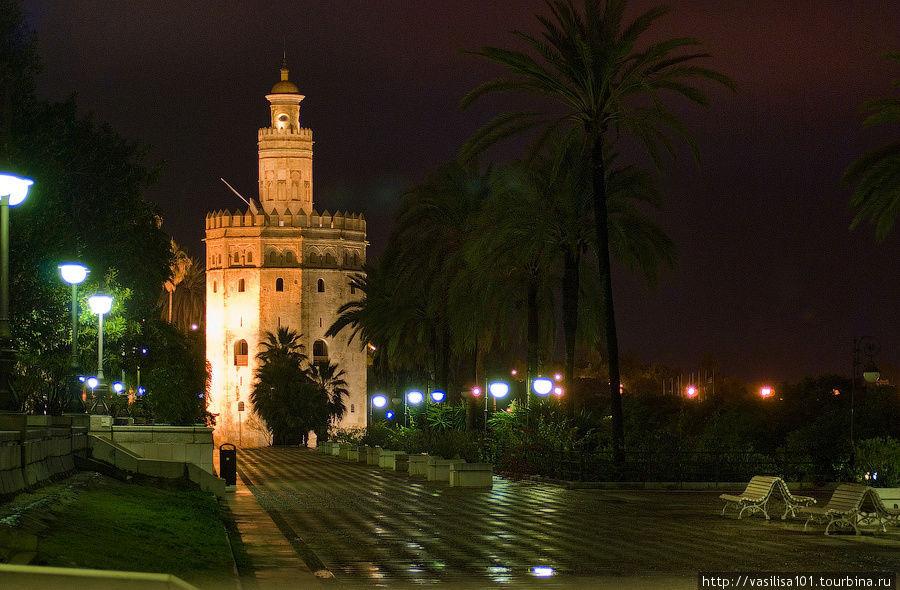 Золотая башня вечером