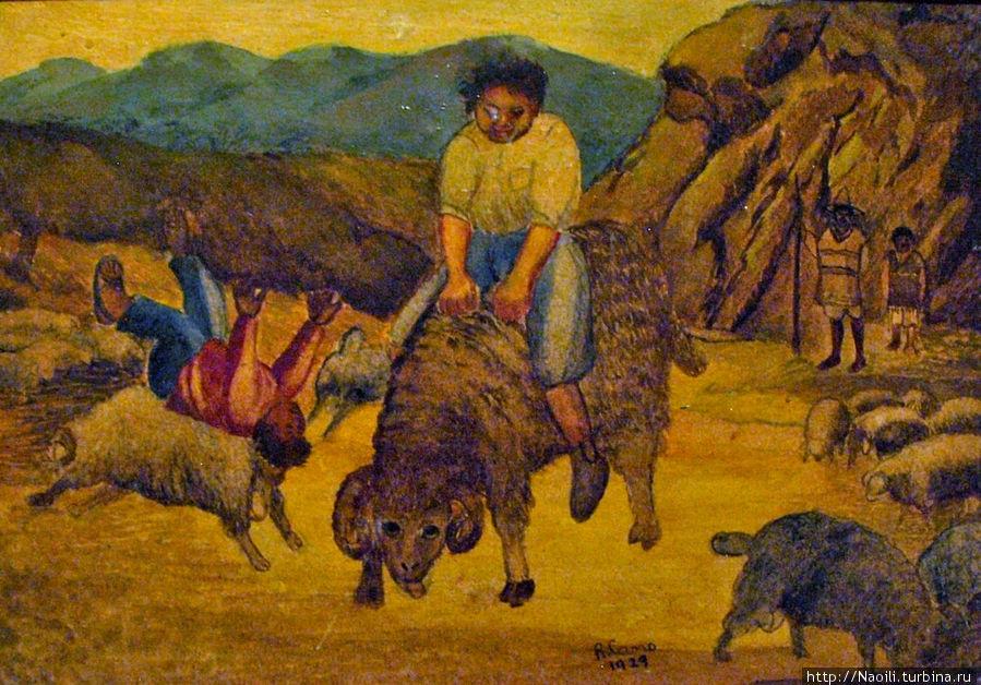 1895, в 7 лет я мечтал стать всадником и я подружился с пастухами чтобы они разрешали мне  садиться верхом на барашков