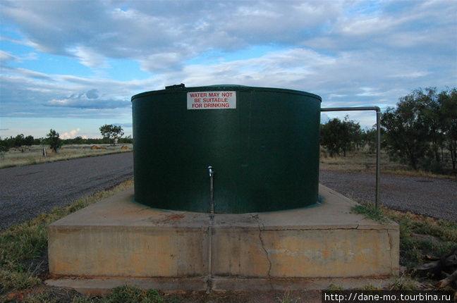 Ёмкость для воды у кемпинга: