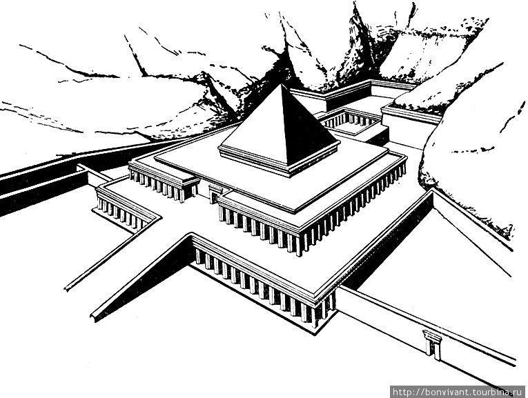 Схема-реконструкция храма (из