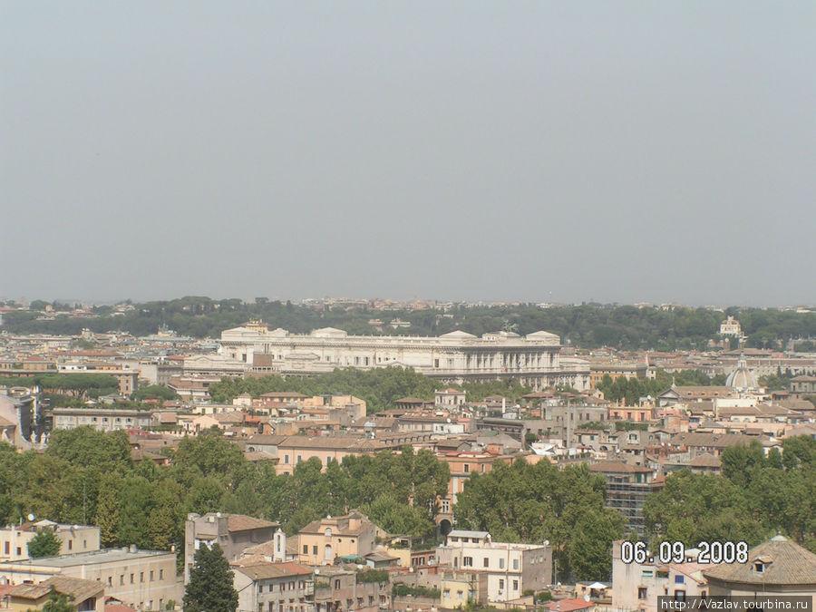 Панорама Рима с Яникульского холма