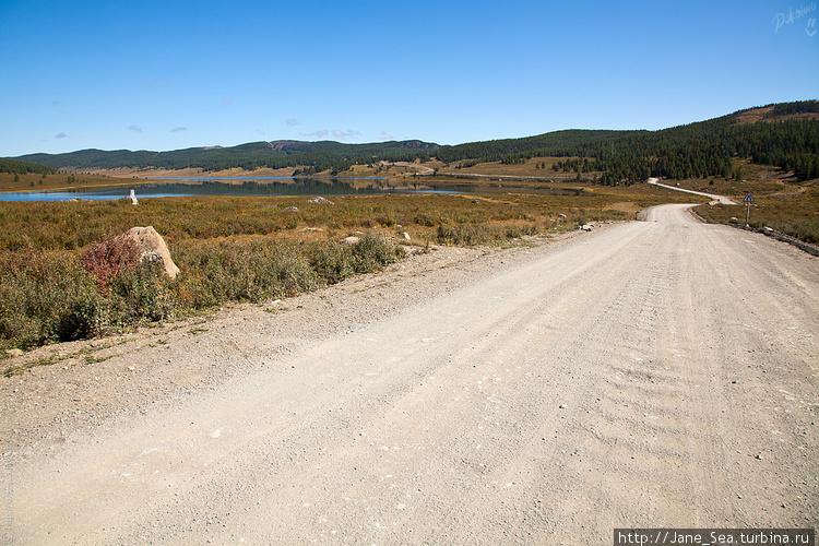 дорога в сторону Усть-Ула
