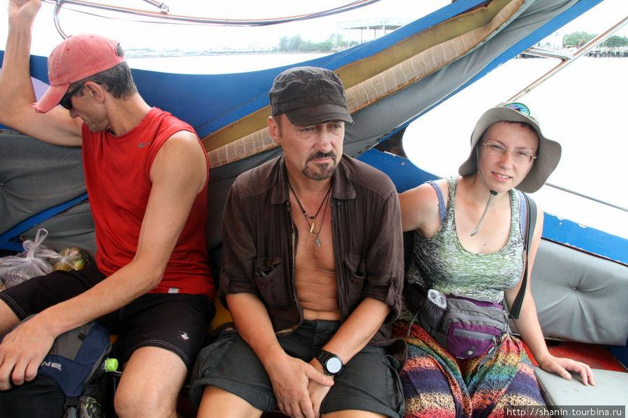 В катере по пути на остров Самет