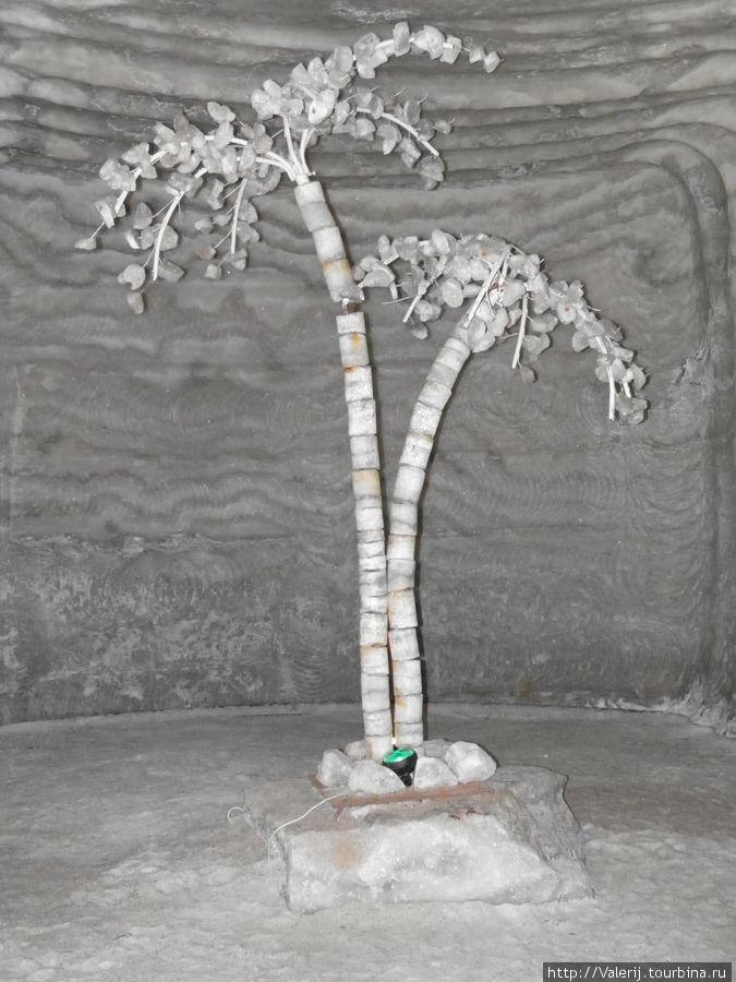 Пальма из соли