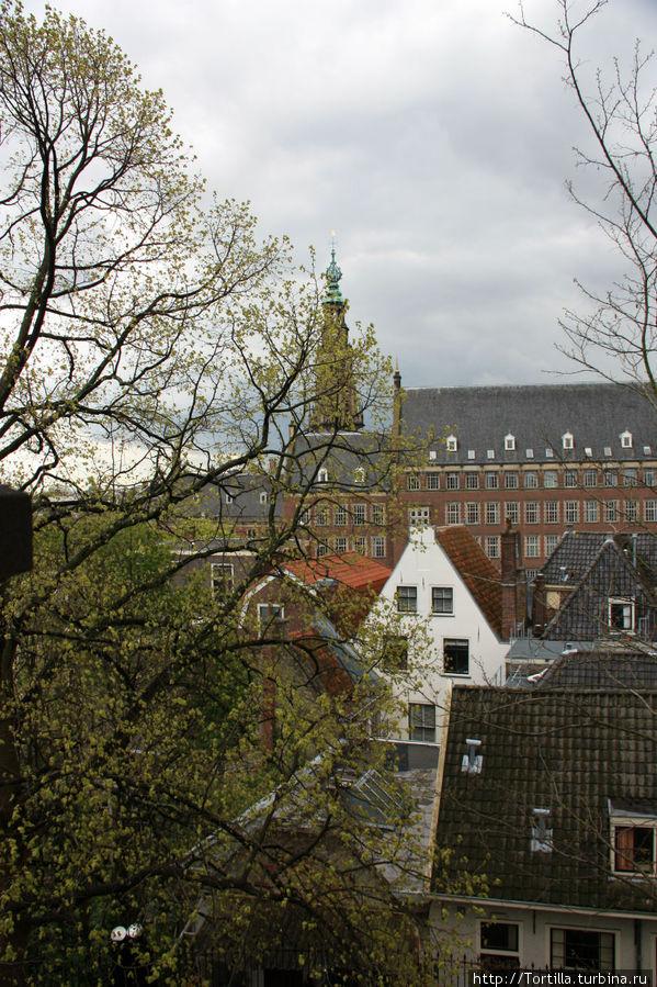 Нидерланды. Лейден. Вид на город со стен крепости