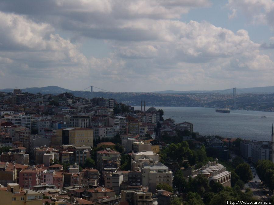 Виды на Стамбул с высоты Галатской башни.