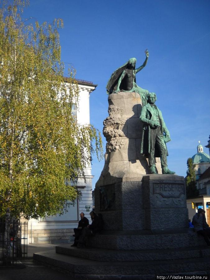 Памятник Прешерну