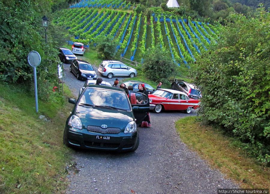 вся стоянка и не только завалена свадебными авто из Лихтенштейна