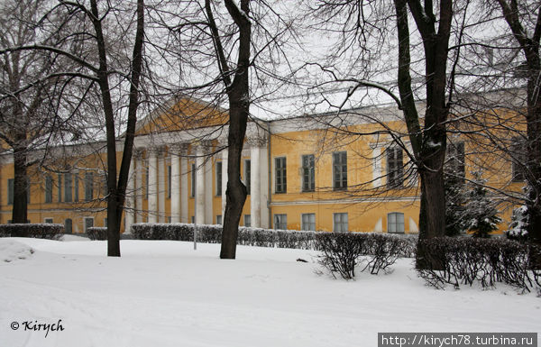 Здание Художественного музея со стороны парка