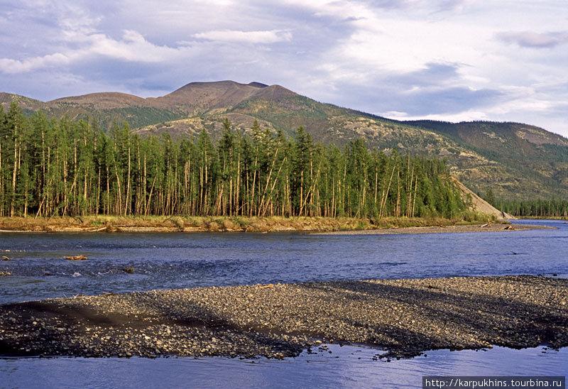 Река Сунтар и Оймяконское нагорье.
