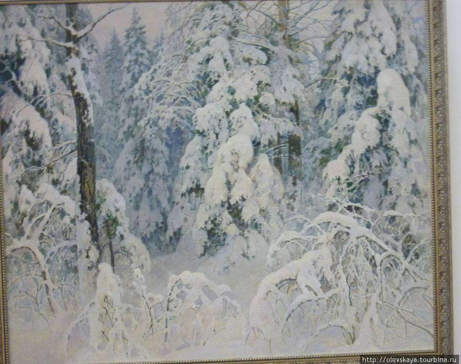 Вологодская зима в изображении вологодского же художника О. Бороздина