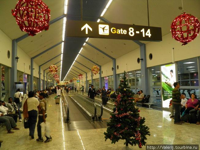 В аэропорту Коломбо.