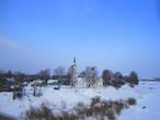 Речные просторы под снегом