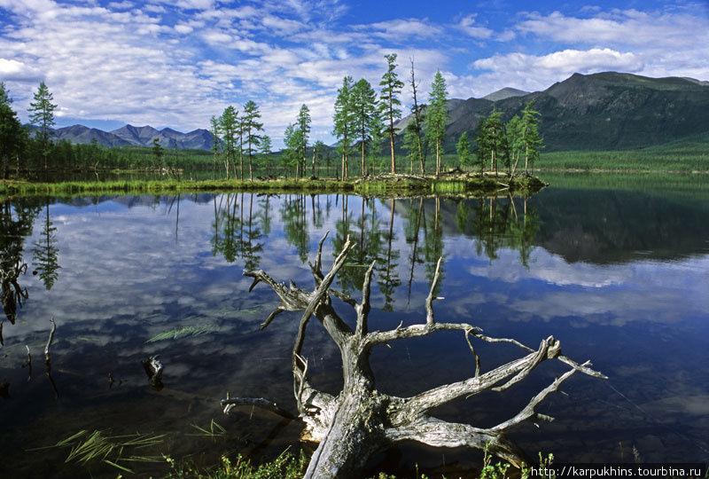 Третье озеро отличается наличием полуостровов.