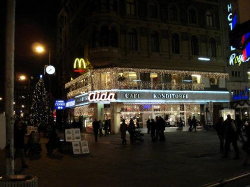 любимое кафе на площади у св.Стефана