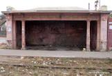 Трамвайная остановка в Усатово.