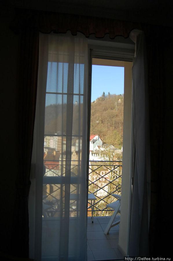 В номере был балкончик